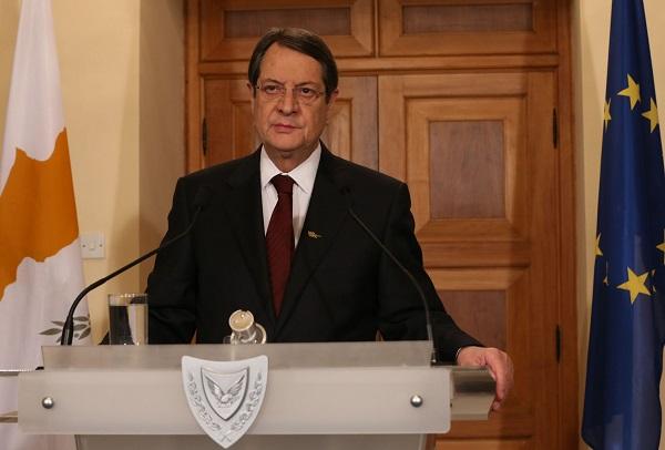 Ο Πρόεδρος της Κυπριακής Δημοκρατίας, Νίκος Αναστασιάδης.