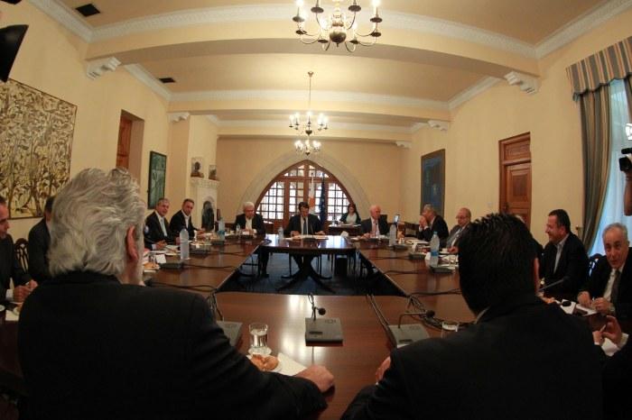 Προεδρικό Μέγαρο Ο Πρόεδρος της Δημοκρατίας κ. Νίκος Αναστασιάδης προεδρεύει συνεδρίας του Εθνικού Συμβουλίου. Presidential Palace The President of the Republic, Mr Nicos Anastasiades, presides over a meeting of the National Council / ΓΤΠ-PIO