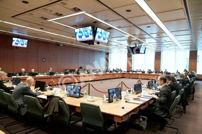 Από την συνεδρίαση του Συμβουλίου των υπουργών Οικονομικών της ευρωζώνης (Eurogroup) στις Βρυξέλλες όπου πήρε μέρος και ο υπουργός Οικονομικών Γιάννης Στουρνάρας, Δευτέρα 13 Μαΐου 2013. ΑΠΕ-ΜΠΕ/www. consilium.europa.eu/Mario Salerno