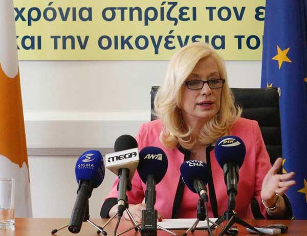 Η υπουργός Εργασίας, Ζέτα Αιμιλιανίδου. (ΓΤΠ)